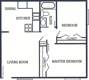 Two Bedroom / One Bath*